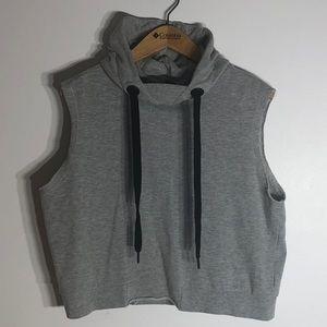 Cropped Sweatshirt Tank Hoodie
